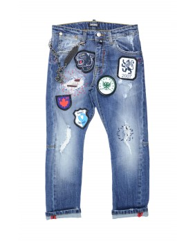 SATOKII JEANS CON PATCH